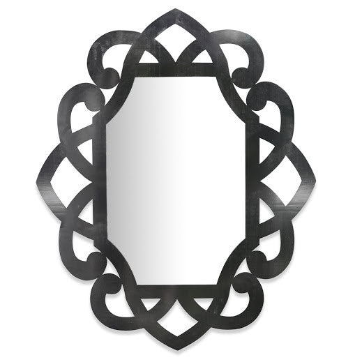 Black Scroll Mirror