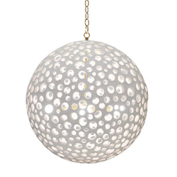 White Sponge Globe Light