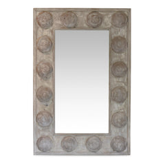 Riveted Wood Mirror