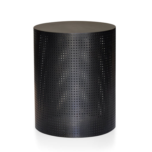 Perforated Black Side Table