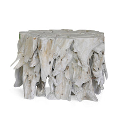 Weathered Teak Root Table