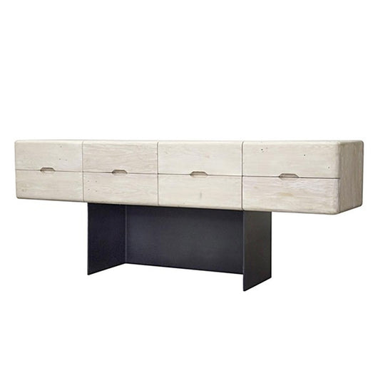 8 Drawer Console With Metal Base