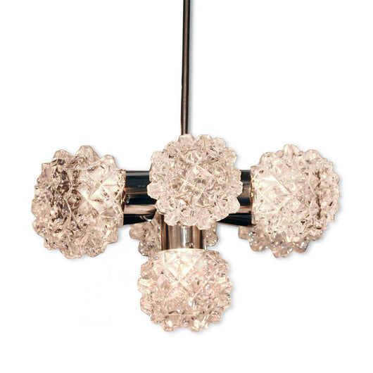 Glass Cluster Chandelier With Drop