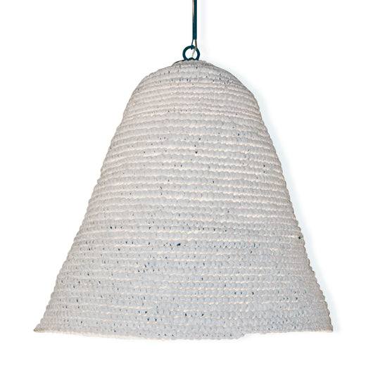 Textured White Basket Light