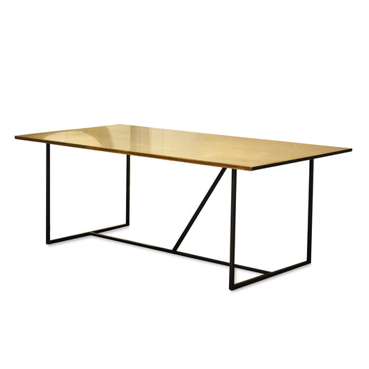 Copper Dining Table With Iron Legs
