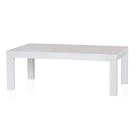 White Grasscloth Coffee Table