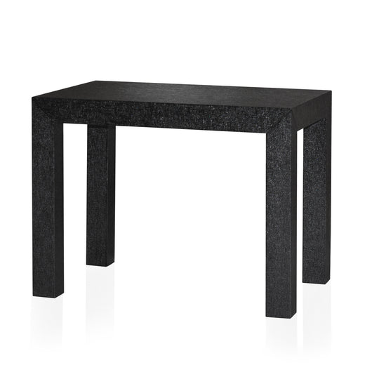 Black Grasscloth Side Table