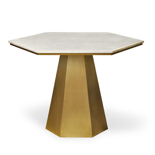 Quartz and Brass Table