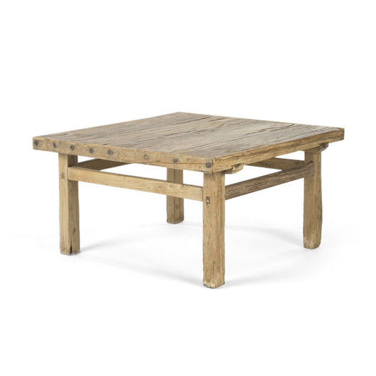 Square Coffee Table With Nailheads