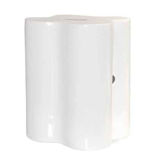 White Ceramic Clover Stool