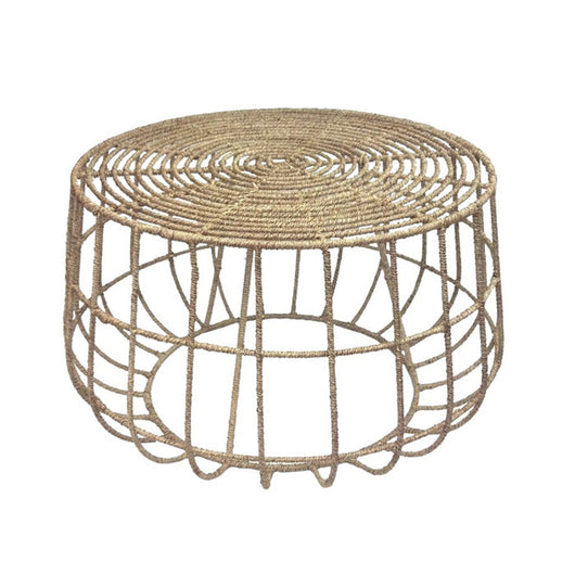 Round Jute Coffee Table