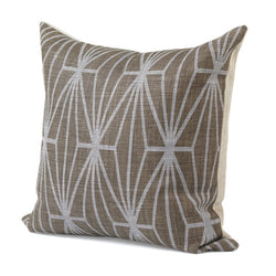 Brown And Lilac Cross Pillow