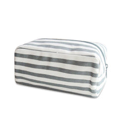 Charcoal Stripe Cosmetic Bag