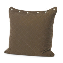 Chocolate Quilted Euro Pillow
