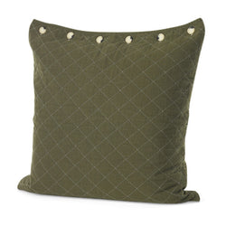 Olive Quilted Euro Pillow