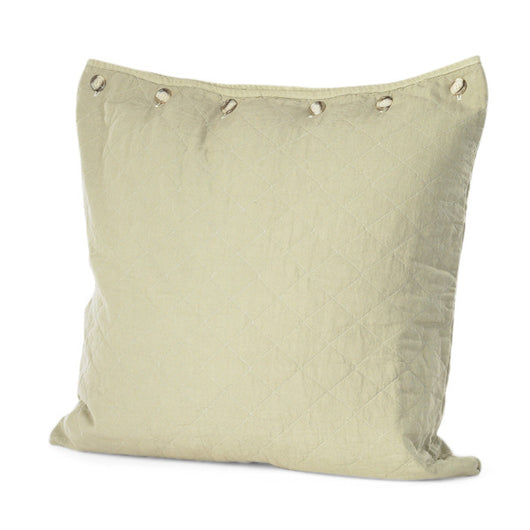 Khaki Quilted Euro Pillow