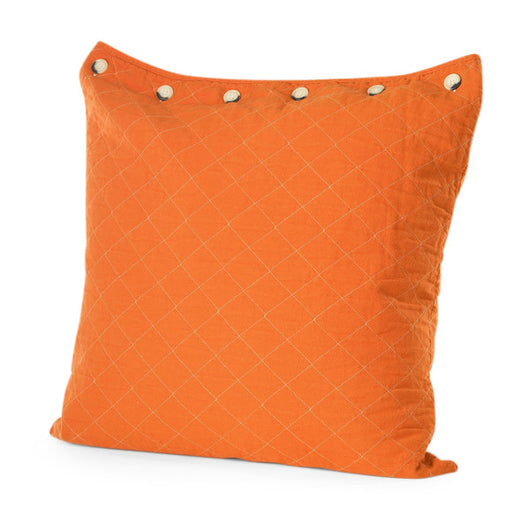 Blaze Orange Quilted Euro Pillow