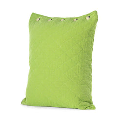 Leaf Green Quilted Standard Pillow