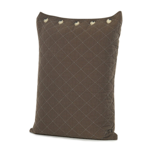 Chocolate Quilted Standard Pillow