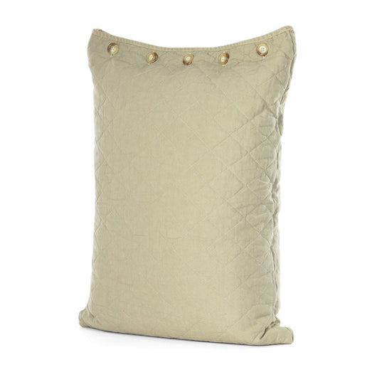 Khaki Quilted Standard Pillow