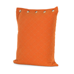 Blaze Orange Quilted Standard Pillow