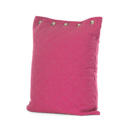 Fuschia Quilted Standard Pillow