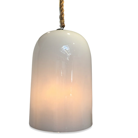 White Dome Glass Light