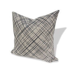 Navy Crosshatch Pillow