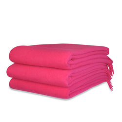 Framboise Wool Throw