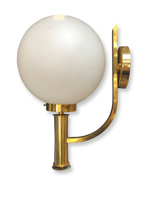 Brass and Globe Sconce