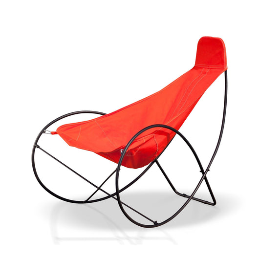 Outdoor Chair With Orange Cover