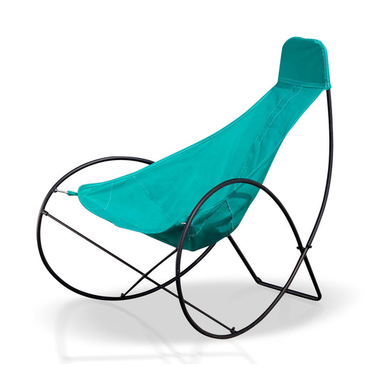 Outdoor Chair With Turquoise Cover
