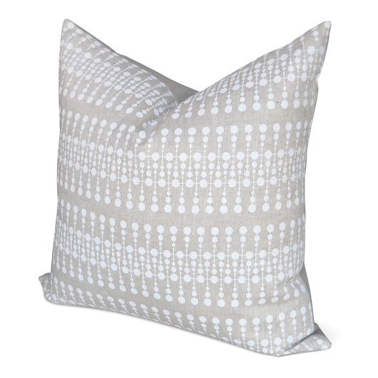 Tan And White Dot Pillow