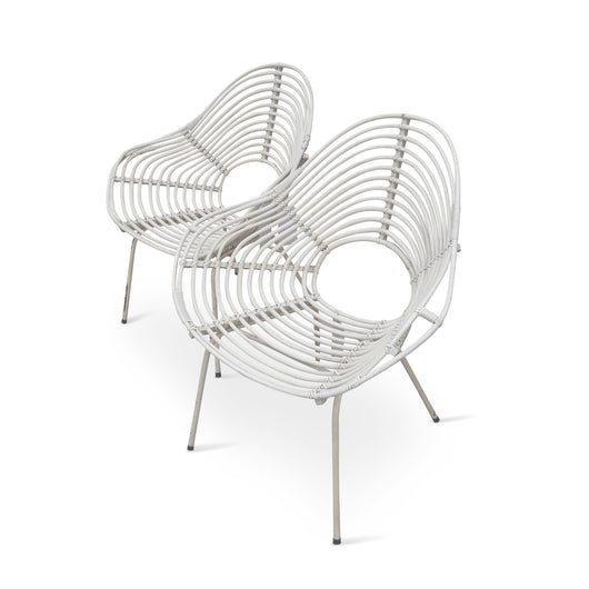 Pair Of White Ripple Chairs