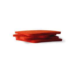 Set Of Four Orange Felt Coasters