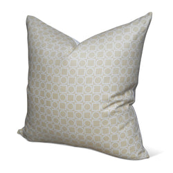 Tan Circle Square Pillow