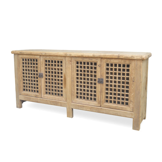 Four Door Grid Sideboard