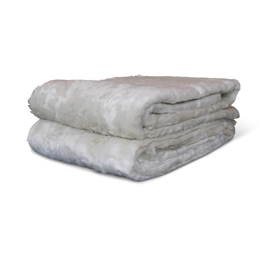 Faux Beige Fur Throw