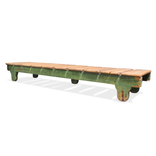 Low Coffee Table With Painted Green Legs