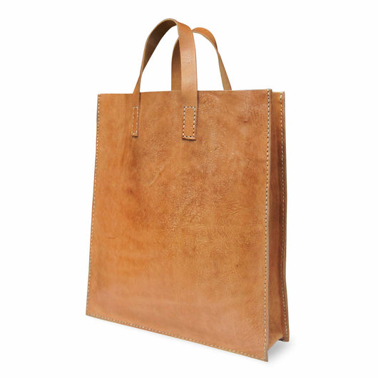 Brown Leather Classic Tote