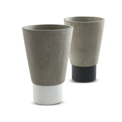 Grey Vases With Contrast Base