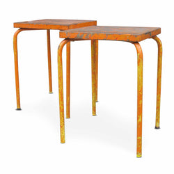 Orange Metal Bistro Table