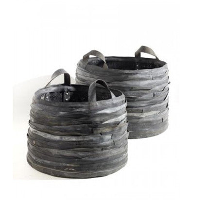 Large Recycled Rubber Log Basket