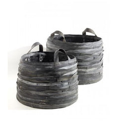 Small Recycled Rubber Log Baskets