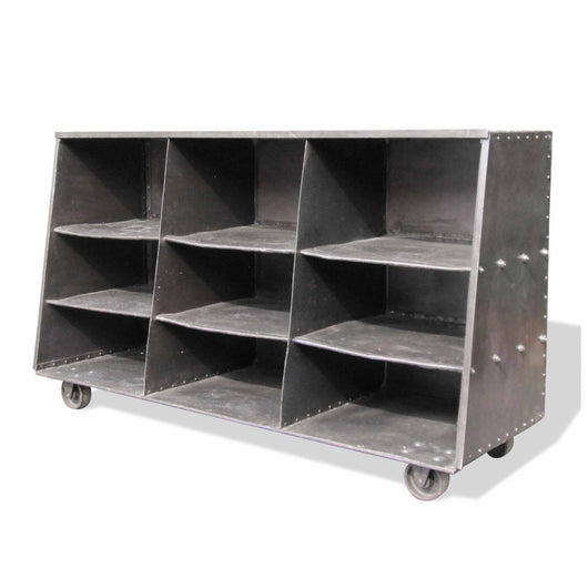 Large Open Metal Cabinet