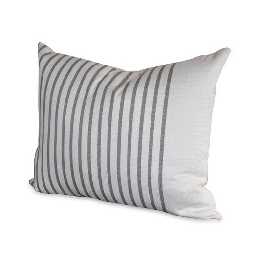Grey Striped Pillow