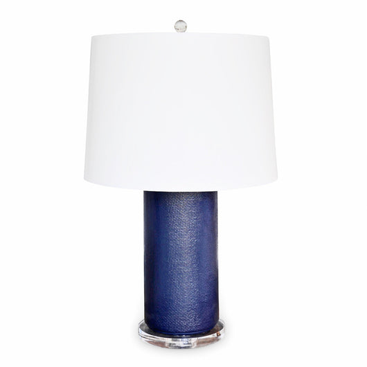 Navy Textured Lamp