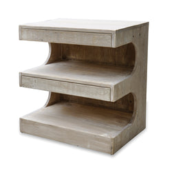 E Shaped Side Table