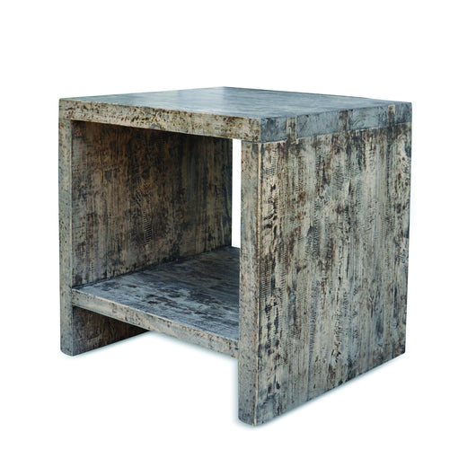Square Elm Side Table