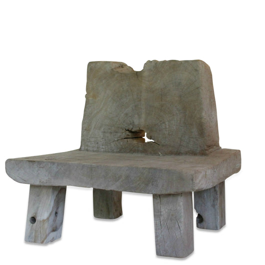 Pair Of Teak Weathered Chairs